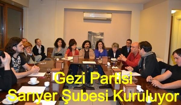 Gezi partisi sariyer Şubesi