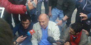 Polis Beşiktaşta Mahmut Tanal'ı Sürükledi