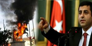Bayrak ve Atatürk büstünü yakanları kınıyorum..