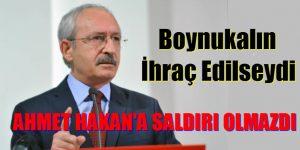 AKP'Lİ BOYNU KALIN İHRAÇ OLSAYDI AHMET HAKAN'A SALDIRI OLMAZDI