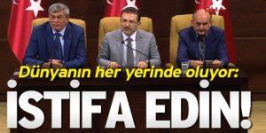 AKP'ye çağrı: Dünyanın her yerinde oluyor, İstifa Edin!