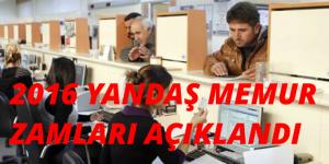 MEMURLARIN 2016 MAAŞ ZAMLARI AÇIKLANDI