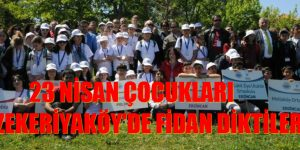 Zekeriyaköy'de barış için fidan diktiler