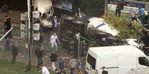 Maslak'ta Beton Mikseri Kazası 1 Ölü 6 Yaralı
