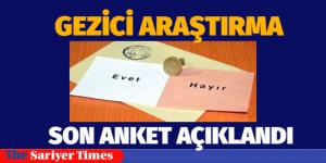 GEZİCİ'NİN SON ANKETİ AÇIKLANDI