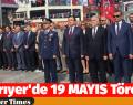 Sarıyer'de 19 MAYIS Töreni