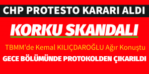 CHP PROTESTO EDİYOR