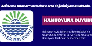 Sarıyer Belediyesi Kamuoyuna Duyuru Yayınladı