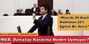 CHP'li Adıgüzel, MEB'in 'Şaibeli' Yönetici Görevlendirme Mülakatlarını Meclis'e Taşıdı