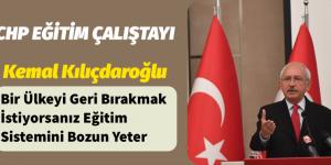 Kemal Kılıçdaroğlu Eğitim Çalıştayında Konuştu