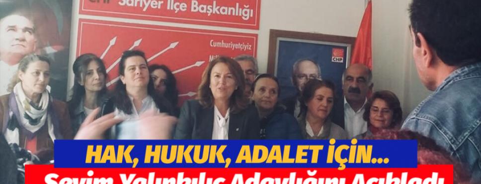 CHP SARIYER'DE KADIN İLÇE BAŞKANI