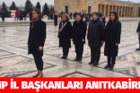 CHP'Lİ KADIN İL BAŞKANLARI ATA'NIN HUZURUNDA