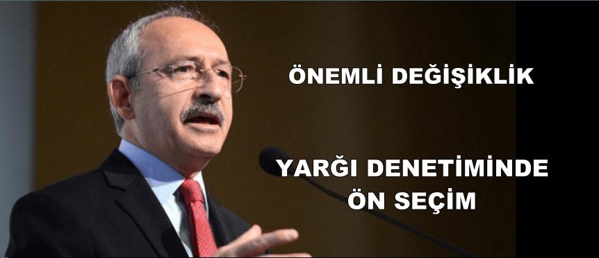 """TÜZÜK'DE  ÖNEMLİ DEĞİŞİKLİK """"ÖN SEÇİM"""""""