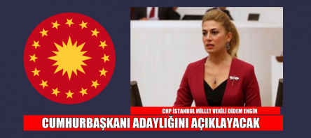 CHP'li Didem Engin Cumhurbaşkanı adaylığını açıklıyor