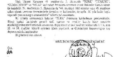 """""""İyi Uykular Türkiye"""" TÜRK'ü Kaldırın Belgesi."""