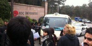 Koç Üniversitesi'nde direniş sürüyor