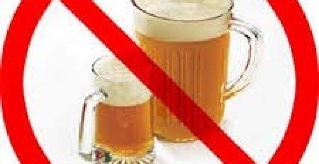 Alkol yasak. Suay  Karaman