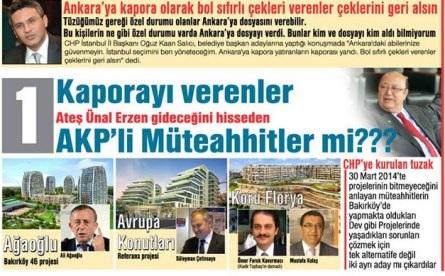 Kaporalar, Çekler AKP li Müteahhitlerden mi?