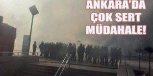 Ankara'da Öğretmenlere sert müdahale yapıldı