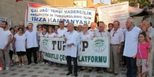 """Turgutlu'da """"Madene Hayır"""" mitingi"""