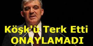 Cumhurbaşkanı Köşk'ü Terk Etti, Bakanları Onaylamadı