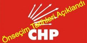 CHP'de Önseçim Tarihleri Açıklandı