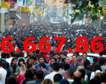 Türkiye'nin Nüfusu 76.667.864 kişiyiz.