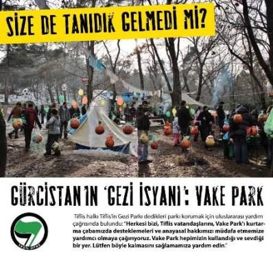 Yeşil Öfke'den:Gürcistan'ın 'Gezi İsyanı': Vake Park