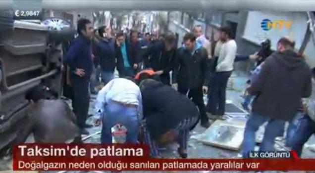 Taksim'de büyük patlama