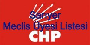 CHP Sarıyer Meclis Üyesi Listesi