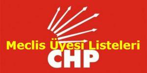 CHP İzmir Meclis Üye Listeleri