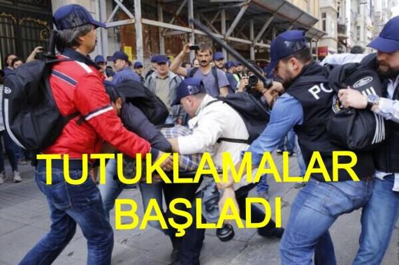 Taksimde Tutuklamalar Başladı