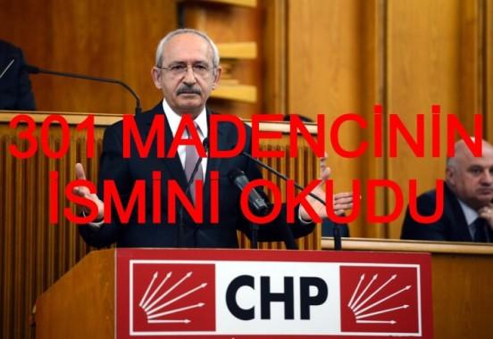 Kılıçdaroğlu Ölen 301 Madencinin İsmini Okudu