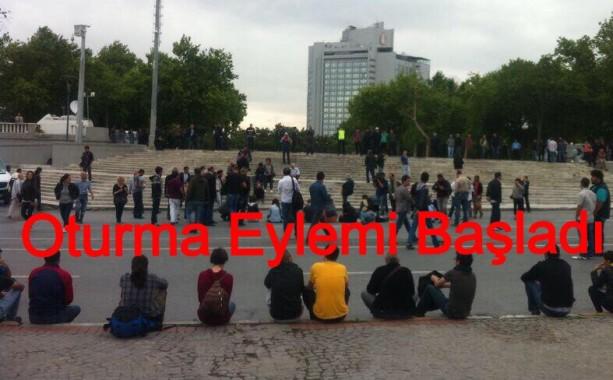 Taksim ve Haydarpaşa'da Oturma Eylemi Başladı
