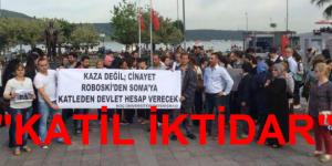 Koç Üniversitesi ve Belediye Taşeronları Soma Cinayetini Protestosu Ettiler