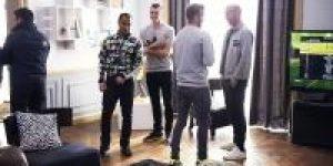 David Beckham, Zinedine Zidane, Gareth Bale ve Lucas Moura adidas'ın yeni reklam kampanyası için evde maç yaptılar