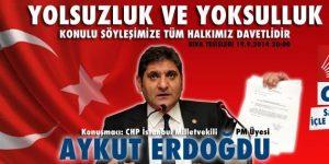 CHP Sarıyer Aykut Erdoğdu ile Buluşuyor