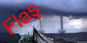 Rumeli Fenerinde Hortum Balıkçıyı Tekneden Aldı