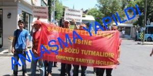 """""""CHP'yi BASMAMIŞLAR"""" Eylemci Taşeronlar Anlaştı."""