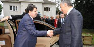 Vali Vasip Şahin Şükrü Genç'i Ziyaret Etti