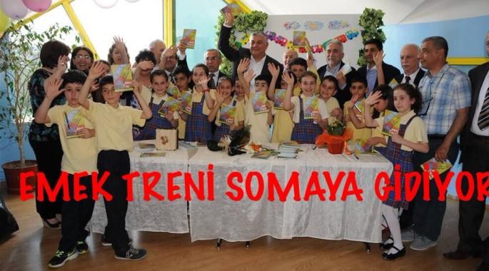 SARIYERLİ ÖĞRENCİLER, EMEK TRENİ İLE SOMA'YA GİDİYOR