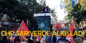 CHP Sarıyer'de Gövde Gösterisi Yaptı