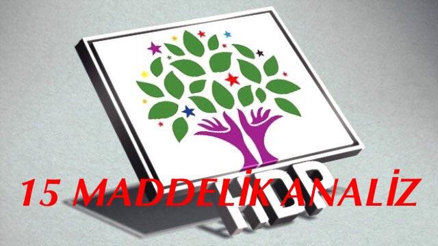 HDP'den 15 Maddelik Seçim Analizi