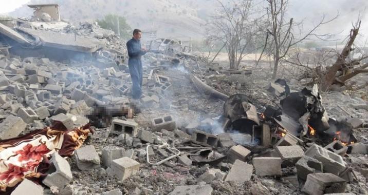 TSK Bombardımanında Zergele Köyünde Siviller…