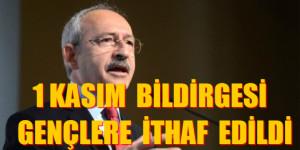 CHP'DEN GENÇLERE SEÇİM BİLDİRGESİ