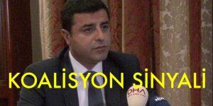 Demirtaş'tan  Koalisyon Sinyali…