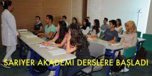 SARIYER AKADEMİ'DE İLK DERS BAŞLADI