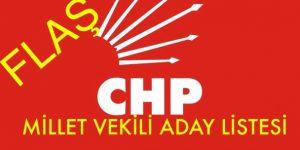 CHP MİLLET VEKİLİ ADAY LİSTESİ