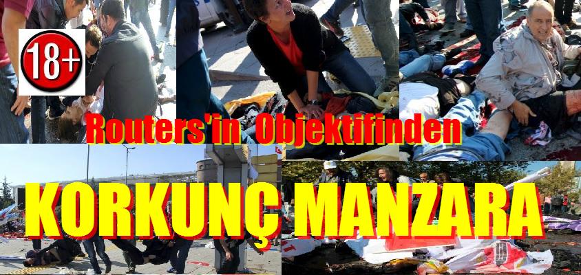 Reuters'ın Objektifinden Ankara'daki Korkunç Patlama  Görüntüleri