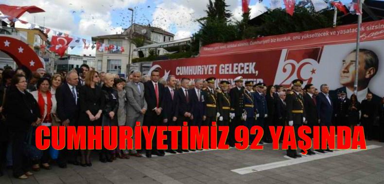 Cumhuriyetimizin 92 yılı Sarıyer'de kutlanıyor